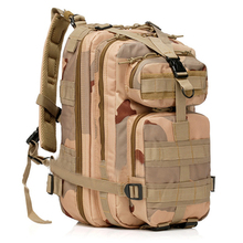 Three sand camouflage Outdoor Army Backpack Rucksacks Camping Hiking Trekking Bag 30L