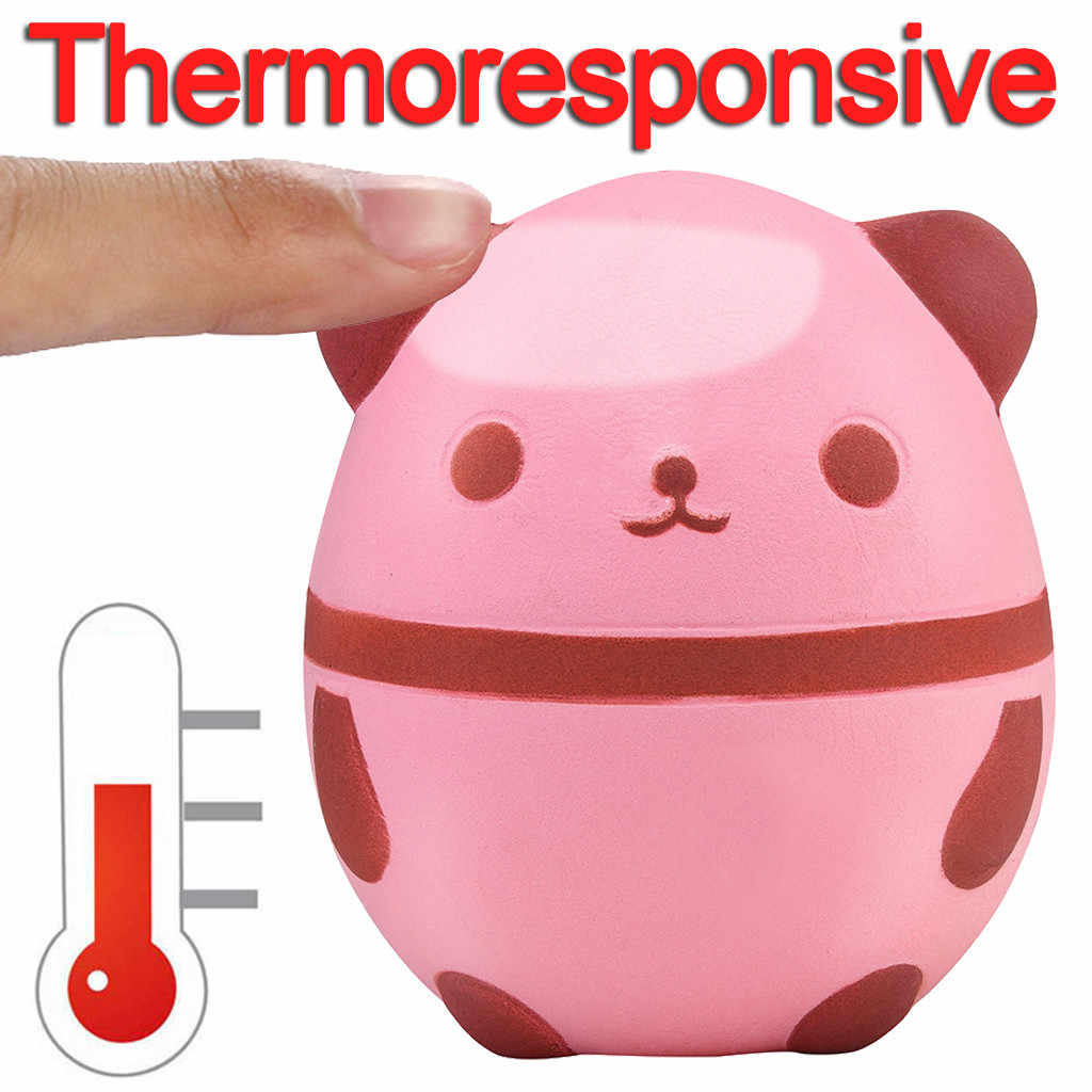 2019 Thermal Heat Induction Squishies Panda Slow Rising Scented Reliever Stress Toys squishy smooshy mushy toys for children