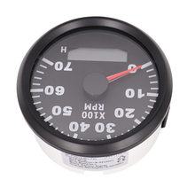 3/4/6/8/10/12 Cylinder Engine Tachometer for Auto Outboard Motor Car Boat Combination hour meter tach 7000RPM REV Counter 12 24V j48s jc48s textile meter counter electronic ac220v 24v