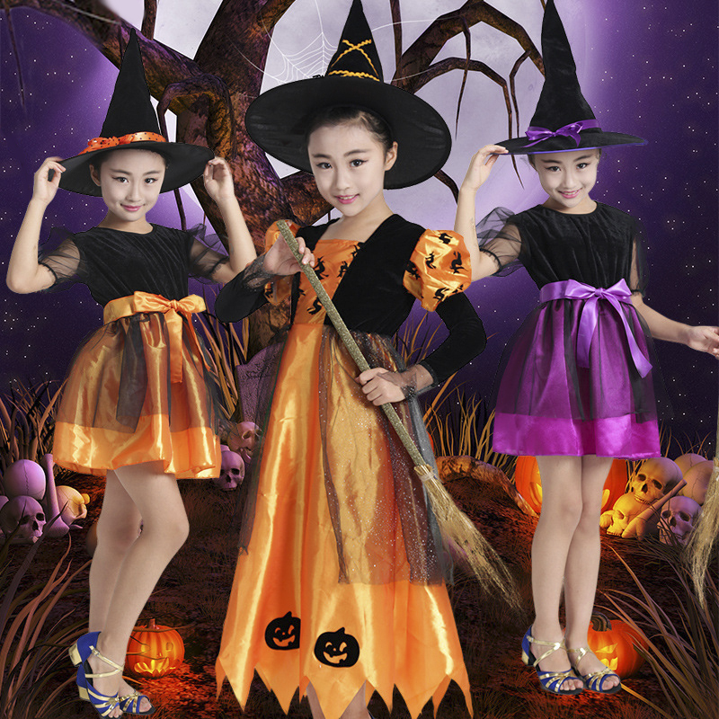 Halloween children's clothing girls witch witch role-playing clothes cosplay masquerade costumes