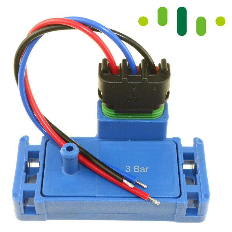 100% Test 3Bar 3 Bar 44 Psi 44psi Turbo Boost Druck KARTE Sensor Für ...