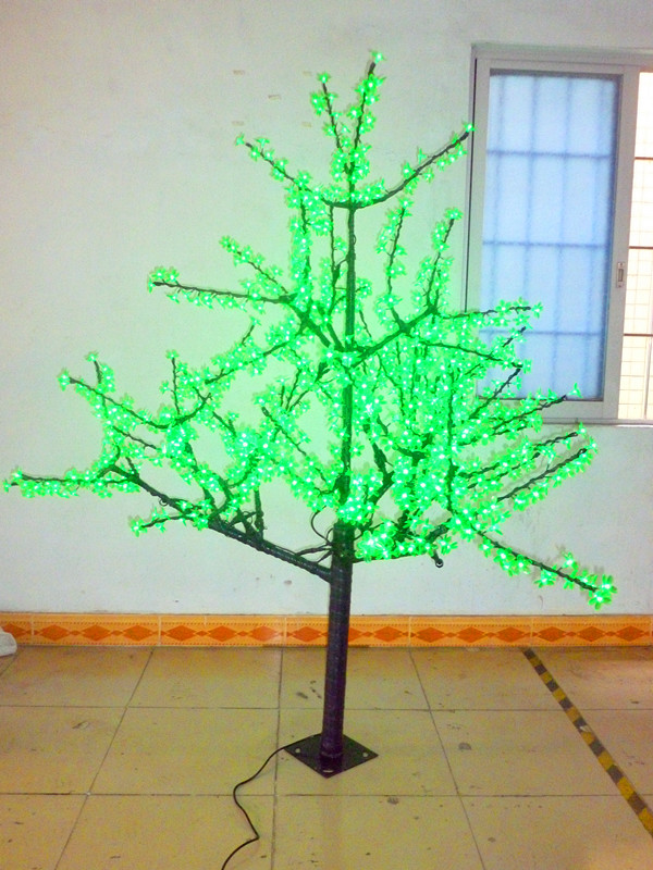 Free ship 1,024 LEDs 6ft 1.8 meters Cherry Blossom Tree Light Garden Holiday Christmas Decoration Green Outdoor waterproof NEW