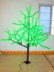 Freies schiff 1,024 LEDs 6ft 1,8 meter Kirschblütenbaum Licht Garten Urlaub Weihnachten Dekoration Grün Im Freien wasserdichte NEUE