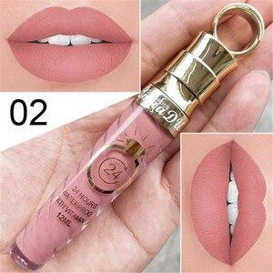 New!!Make Up Lips Matte Liquid Lipstick Waterproof Long Lasting Sexy Pigment Nude Glitter Style Lip Gloss Beauty Red Lip Tint(China)