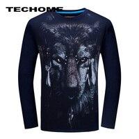 3D T Shirt S 6XL Mens Long Sleeve Animal Chimpanzee Tiger Wolf Snake Printed T Shirts