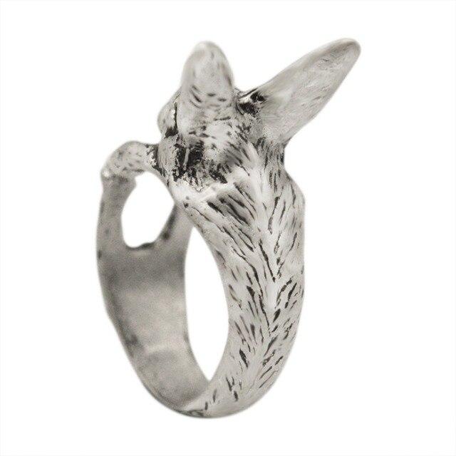 Ajustable QIAMNI Vintage Hippie Chic conejo hecho a mano conejo Animal nudillos anillos para las mujeres dije para chicas regalo de joyería de moda 6