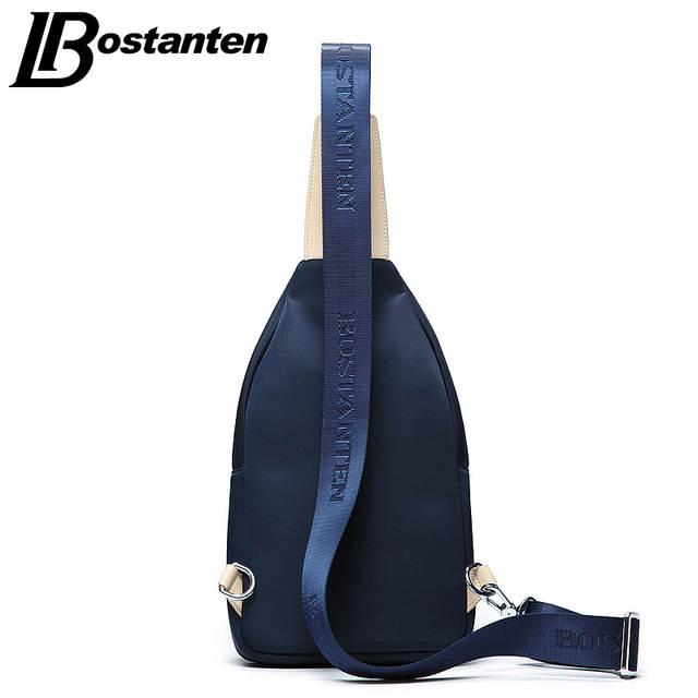 dfdfb164b6 Bostanten Trendy Waterproof Nylon Chest Bag For Men Brand New Panelled  Causal Mens Small Crossbody Bags