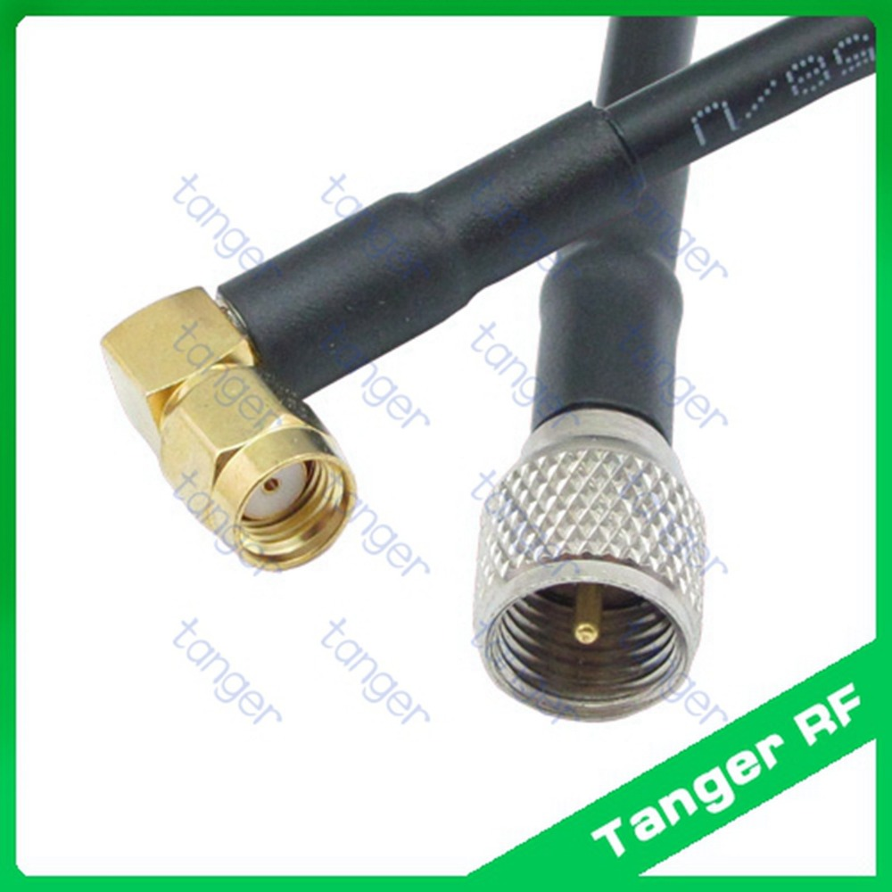 Tanger Mini UHF male plug PL259 SL16 to RP-SMA  male right angle connector RF RG58 Pigtail Jumper Coaxial Cable 3feet 100cm new dvb t rf coaxial to mcx tv antenna connector black 22cm cable