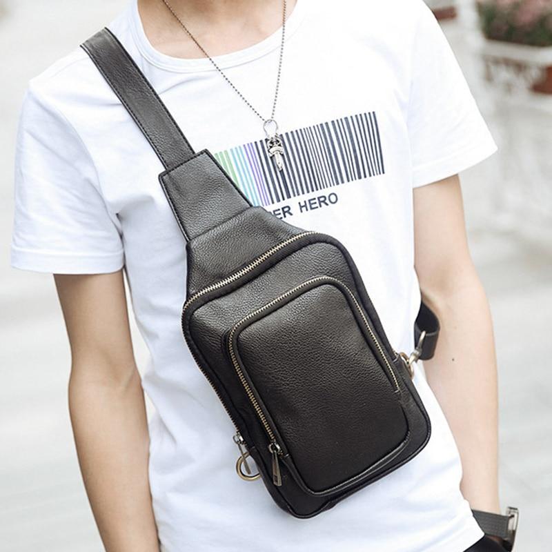새 도착 디자이너 슬링 배낭 방수 어깨 가방 삼각형 Shall 드롭 가방 가슴 팩 가방 가죽 남자 크로스 바디 가방