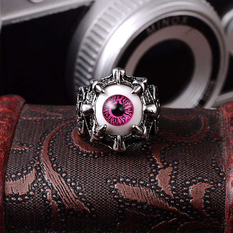 Punk Eyes Claw Biker Gothic Ring Taille 8 8 10 10 11 J026 de femmes - Bijoux fantaisie - Photo 5