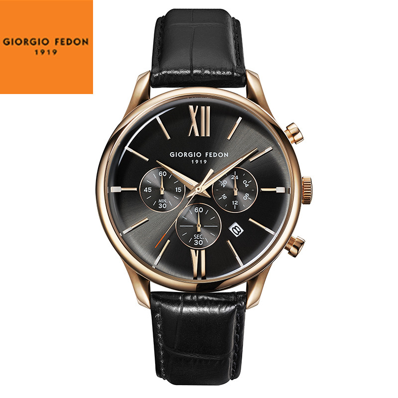 GIORGIO FEDON 1919 VINTAGE IX Men Watch Luxury Italian Brand mens watches top brand Leather Waterproof Watches GFCB003 ...