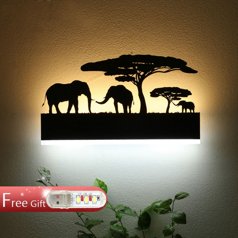 Creative led modern minimalist living corridor wall lamp wall lamp to warm the bedroom bedside lamp personality