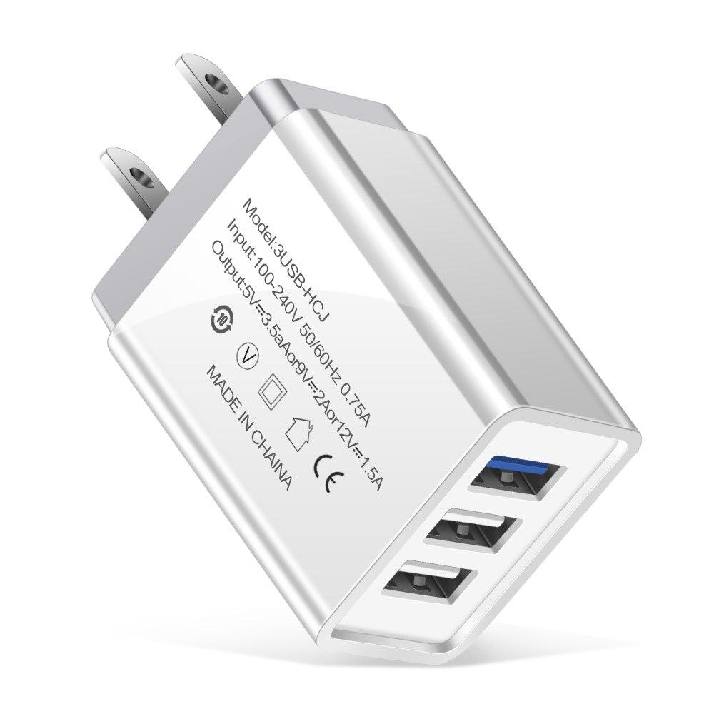 us plug charger white