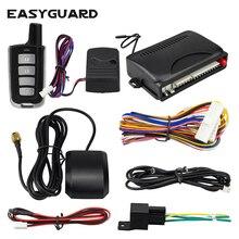 Автомобильная сигнализация EASYGUARD с gps-отслеживанием приложение разблокировка и релиз багажника гео-забор и голосовой монитор Совместимость с IOS и android