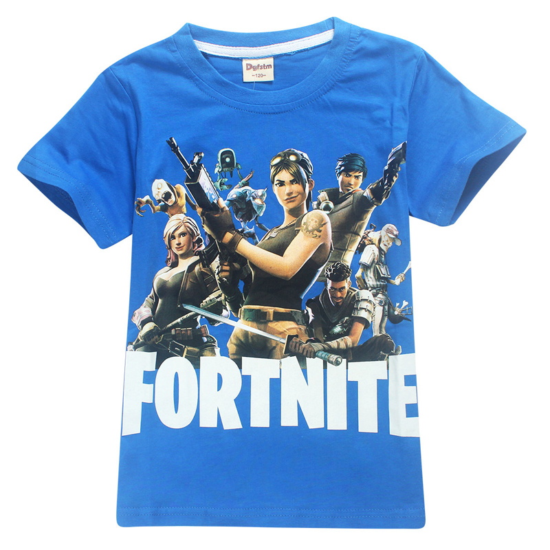 Hot Game Fortnite Boys Clothes Summer Kids Boys T-shirt 100% Cotton Fortnite Print Children Clothing Tees Kids Girls Tops Tees new hot summer kids boys girls cartoon tees tshirt kids t shirt short sleeved tops cotton clothes pattern cactus cicishop