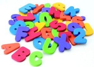 Image 3 - 36 יח\סט אלפאנומריים מכתב פאזל תינוק צעצועי אמבטיה רך EVA ילדים תינוק מים צעצועי אמבטיה מוקדם חינוכיים יניקה עד צעצוע