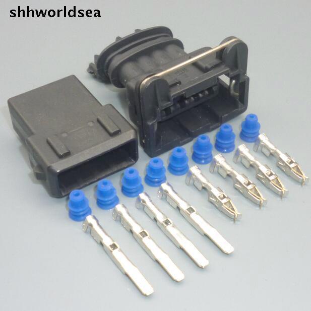 Shhworldsea 5/30/100 Définit homme femme Connecteur Multiple Jpt Junior Puissance Minuterie 4 Way Socket 282192-1 Firewire capteur d'oxygène