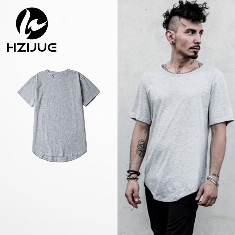 HZIJUE 2017 Hot Fashion férfiak Hip Hop Swag Long T-shirt - Férfi ruházat - Fénykép 2