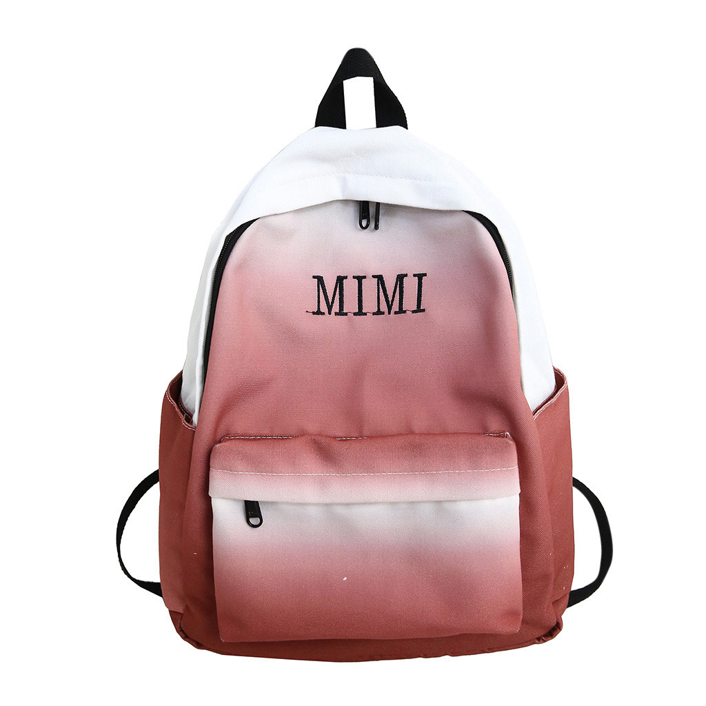 Women Backpacks Gradient Color School Bags For Teenage Girls School Shoulder Bags Waterproof Bookbag Mochila dropshipping 611W(China)