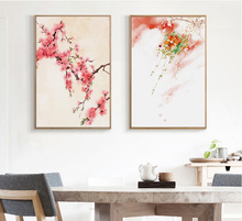 2 Pieces canvas paintings Living room decoration paintings Nordic small fresh sofa simple landscape painting with no frame(China)