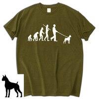 Evolution Boxer Dog Lover T Shirt Funny Birthday Gift For Him Shubuzhi Men Cotton Tee Shirt