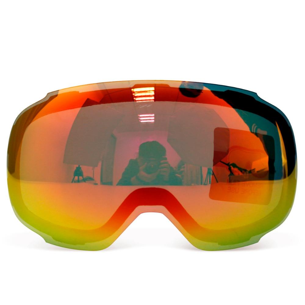 Prix pour D'origine Lentille Magnétique pour ski lunettes GOG-2181 anti-brouillard UV400 sphériques lunettes de ski neige Snowboard lunettes
