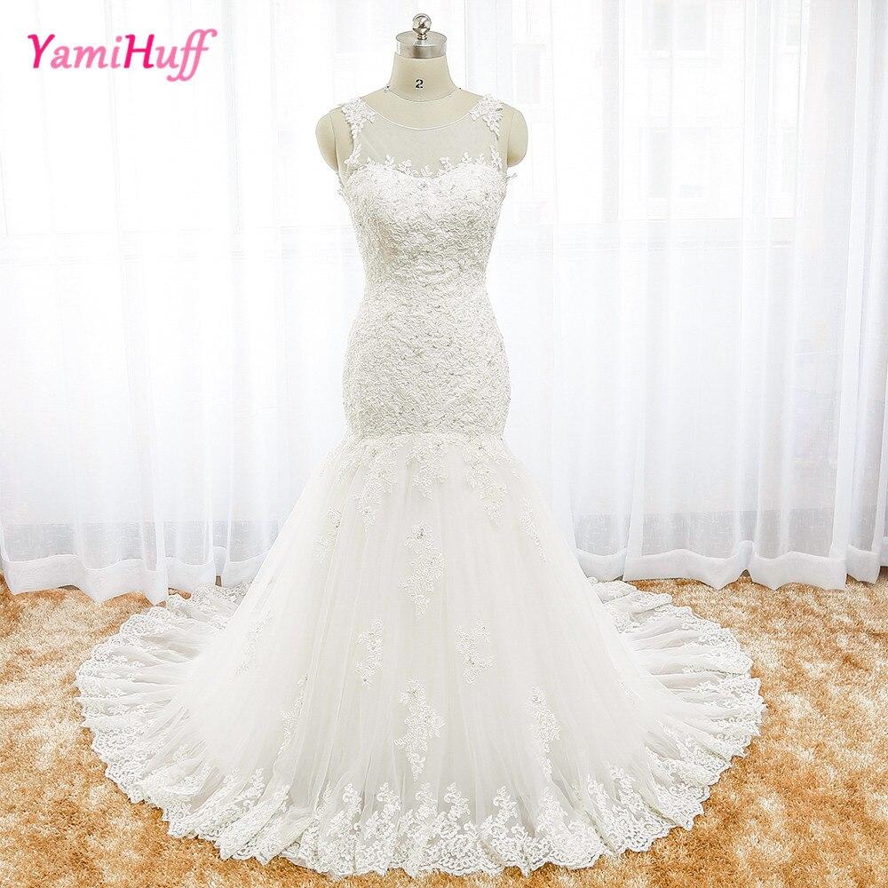 Aliexpress Com Buy Simple Elegant See Through Lace Part: Dreamy Design 2016 Wedding Dresses Lace Mermaid Bridal
