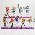 15-19cm Anime Love Live PVC Figure Honoka Minami Kotori Sonoda Umi Yazawa Niko with Fans Cute Girls Model Doll for Collection