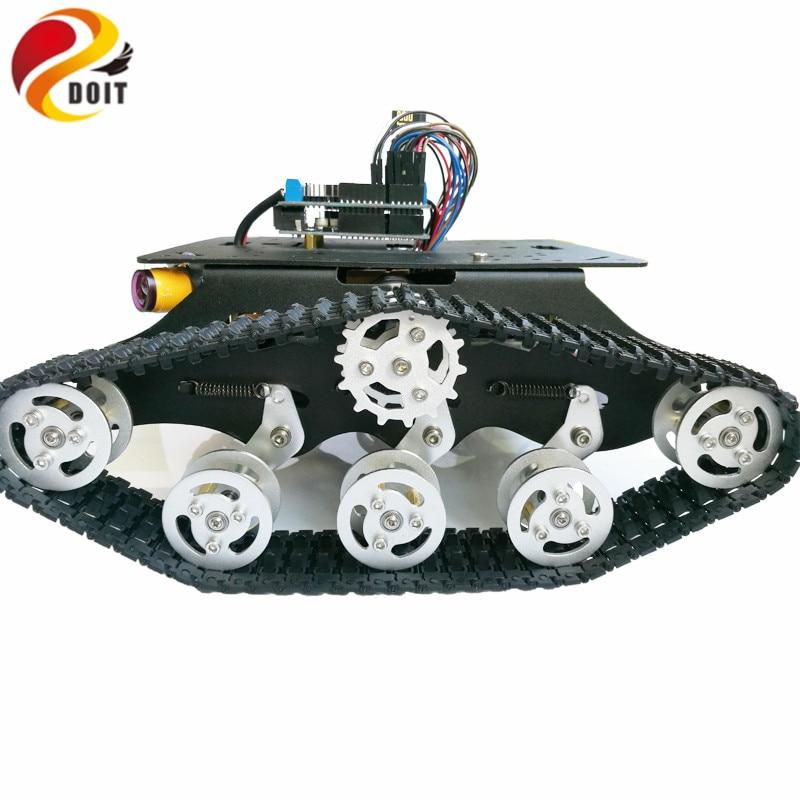 DOIT TSD300 Sterowanie Bluetooth / WiFi Crawler Tank Car Vehicle ze - Zabawki zdalnie sterowane - Zdjęcie 4