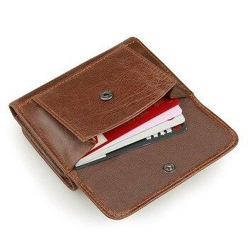 кожаный кошелек мужчины | Для мужчин из натуральной кожи кошельки для кредитных карт короткие ID в виде кошелька, с карманом для карточек