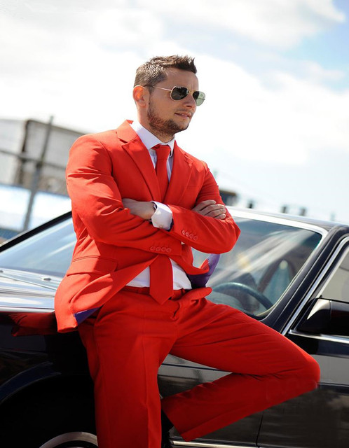 New Custom Made Mens ternos de casamento smoking Padrinhos Terno Do Casamento Do Noivo Red Smoking Jacket + Pants Best men Suit