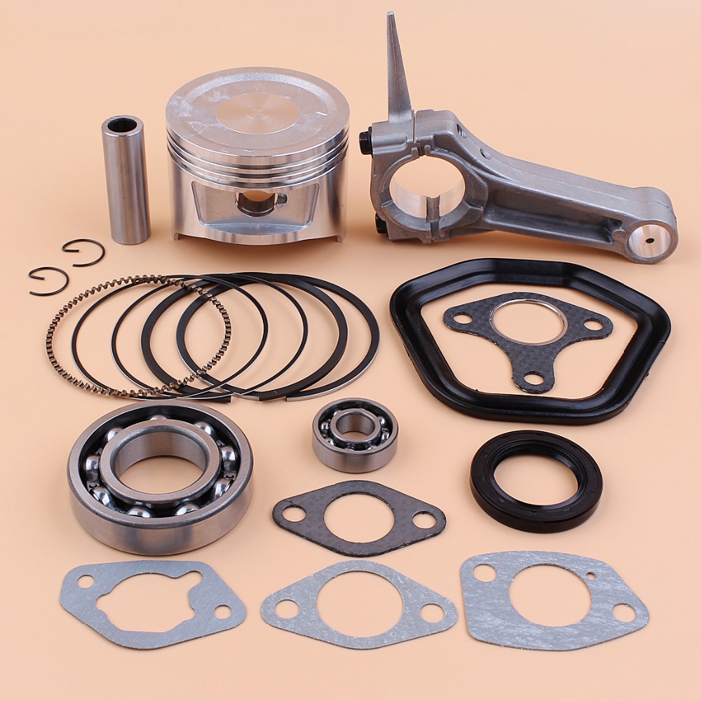 88MM Piston Ring Crankshaft Connecting Rod Bearing Oil Seal Gasket For HONDA GX390 188F 13HP 6.5KW Gas Engine Motor Generator genuine ud engine parts fd46 fd46t main crankshaft bearing con rod bearing connecting rod bushing