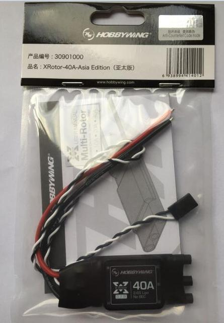 Hobbywing XRotor 2-6 S 40A Brushless ESC pour RC Multicopters 550-650 Classe Quadcopter (4 pcs/lot)