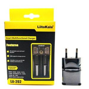 Image 2 - LiitoKala Lii 202 מטען סוללה חכם עם פונקצית בנק כוח USB עבור Ni Mh ליתיום עבור 18650 26650 18350 14500 + Lii U1