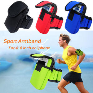 16*10 cm Armband Cases for Iphone Carrying Case Headphone Hole Profession Gym Running