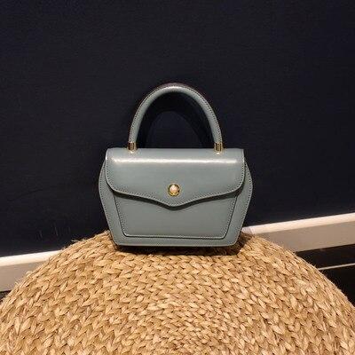 Conception contractée Style femmes noir brun sacs à main dame vache en cuir Messenger sac à bandoulière grande marque Style OL sacs - 5