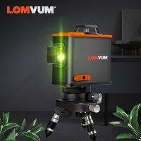 LOMVUM 3D лазерный уровень черный 12 линий вертикальный горизонтальный зеленый лазер новое поступление