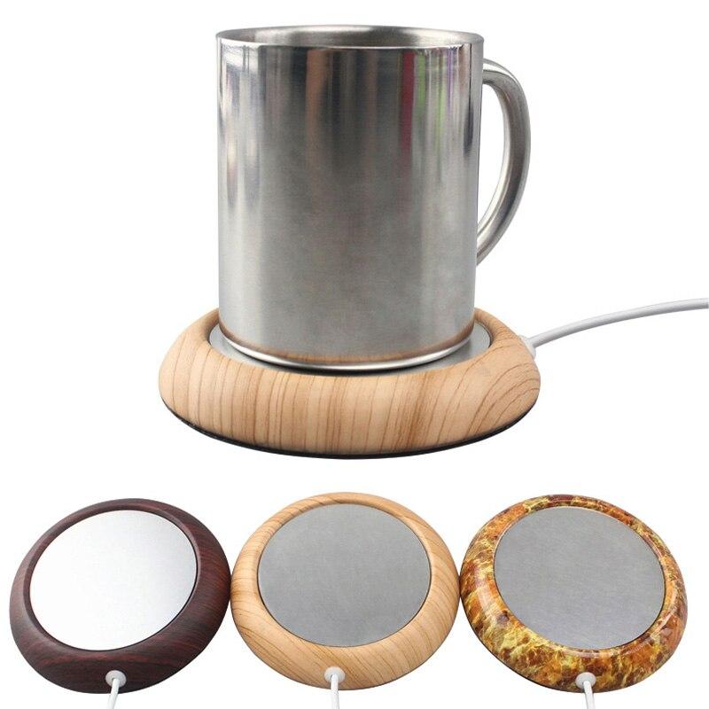 1 Pcs Portable USB Électrique Chauffe-Tasse Bois/Marbré Couleur Thé Café Boisson Chauffage Pad Tapis Gardez Boisson Chaude chauffe-Tasses Coaster