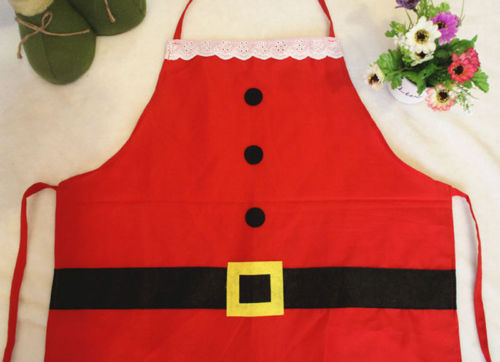 Kids Christmas Apron Home Kitchen Cooking Bib Red Funny Santa Clause Apron Xmas Gifts