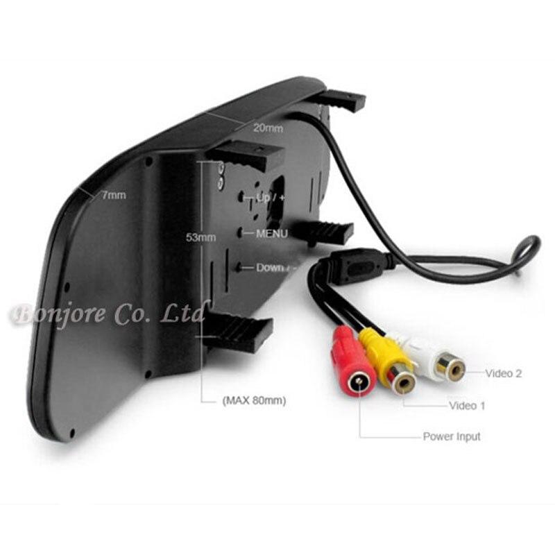 Koorinwoo Visible Car Parking System Reverse Back up 4 Radars Video System 4.3 Car Monitor Auto Rear view Camera Parktronic