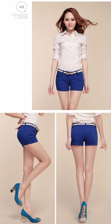 Summer Denim Shorts For Women Cotton Candy Color