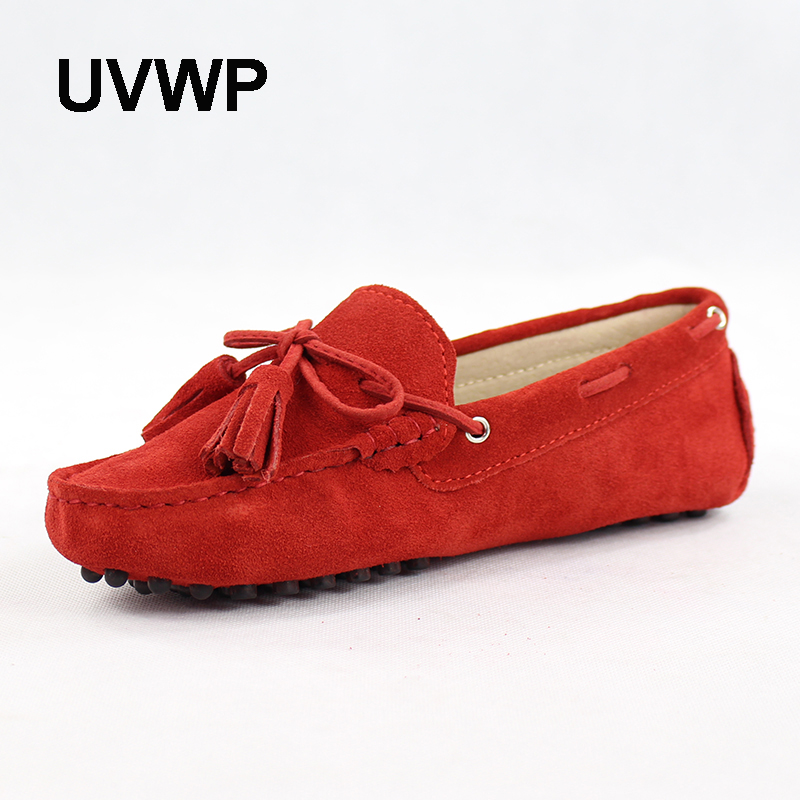 New Fashion Spring Autumn 100% Genuine Leather Women Flat Shoes Handmade Flats Casual Loafers Lady Driving Shoes Soft Moccasins(China)