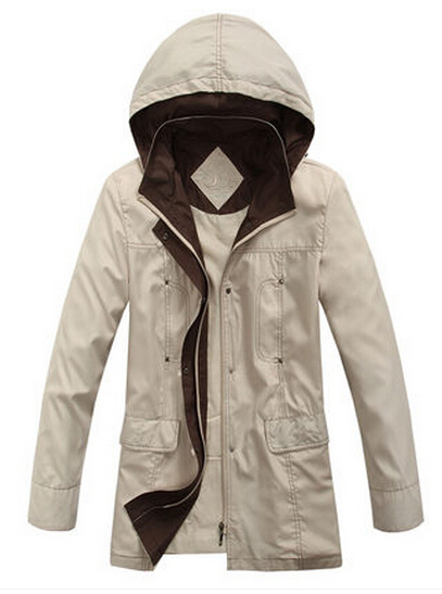 free shipping raincoat female long-sleeve with a hood cardigan 2014 spring and autumn windproof rainproof casual wear