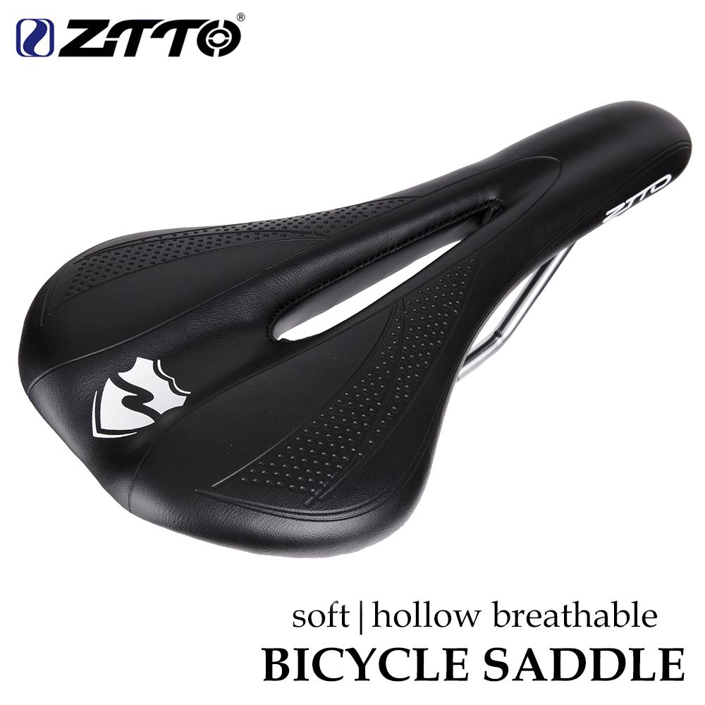 ZTTO  MTB Road Bike Soft Seat Pain-Relief Thicken PU Leather Comfortable Bicycle Saddle Bicycle Parts