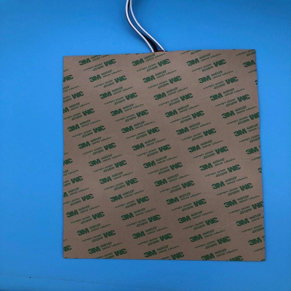 Elettrico riscaldatore letto per stampante 3d posteriore 150x260mm 110 v 150 w flexible chauffage silicone chauffage avec 3 M adhésif