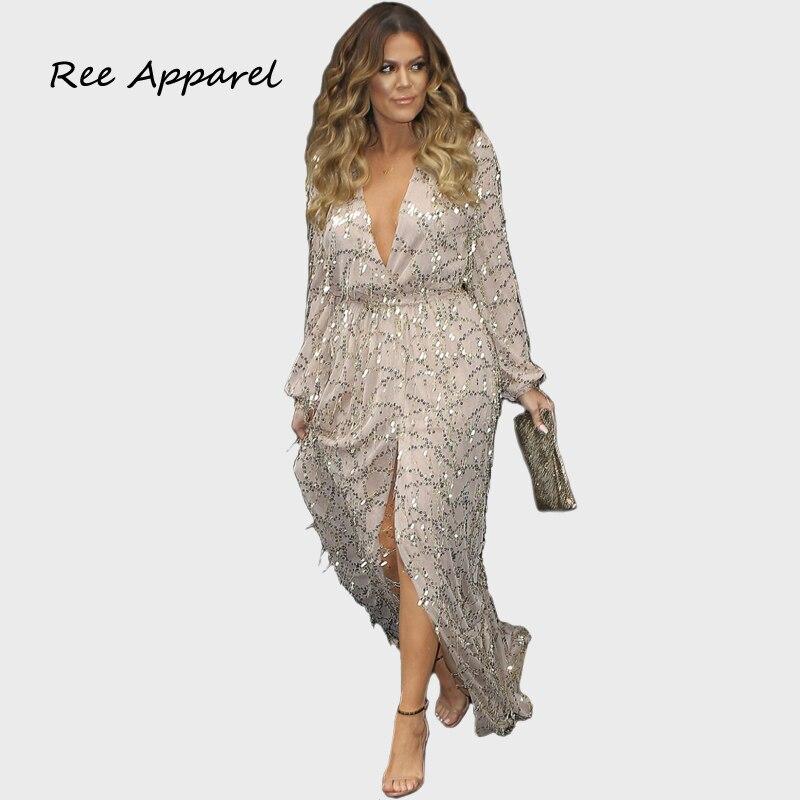 Sequin Dresses Plus Size Women Fashion Dresses