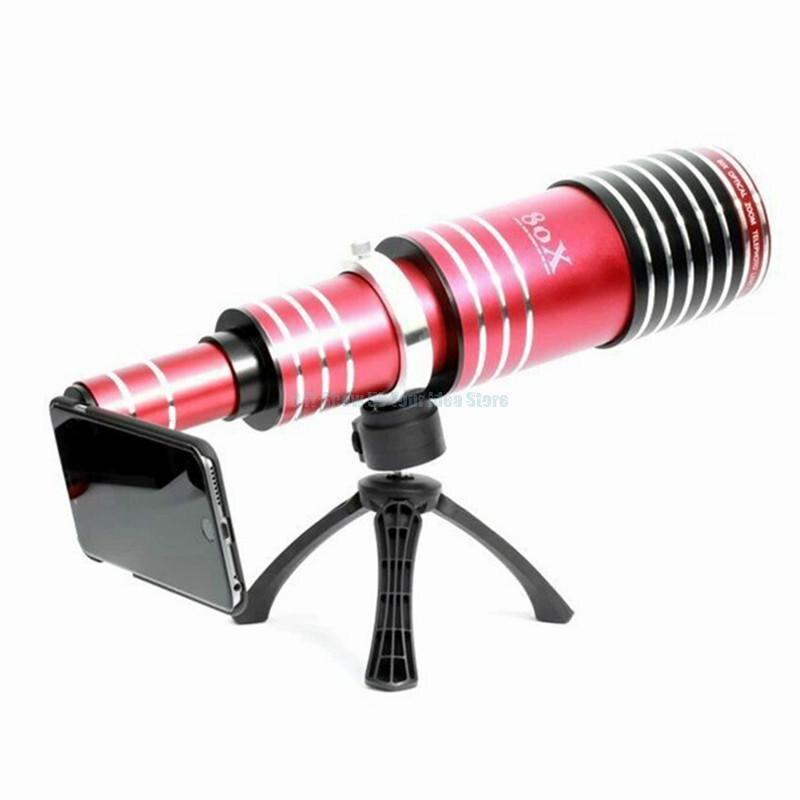 Обновления 80X Оптический зум телескоп Объективы для телефонов для iPhone 5 5S SE 6 6S Plus 7 для samsung Galaxy S9 S8 S7 S6 край Примечание 5 4