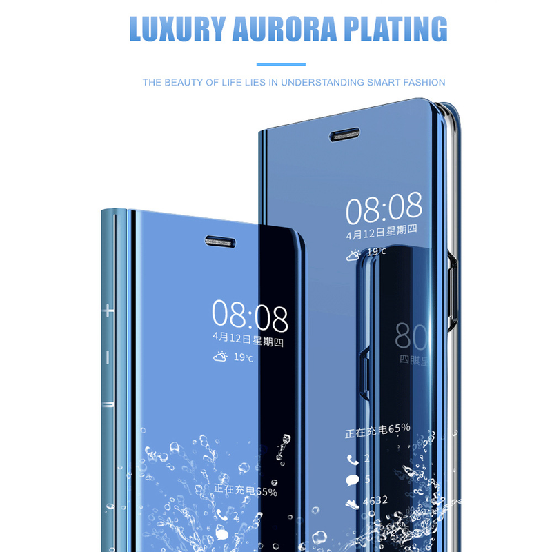 Luxury For Huawei Mate8 Clear View Smart Mirror Phone Case For Huawei Mate 9 10 20 Pro Mate20Lite Flip Stand Leather Cover Cases in Flip Cases from Cellphones Telecommunications