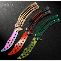 Jeslon CS GO Knife Counter Strike Claw Karambit Knife Game Folding Knife Butterfly Rainbow Game Knife