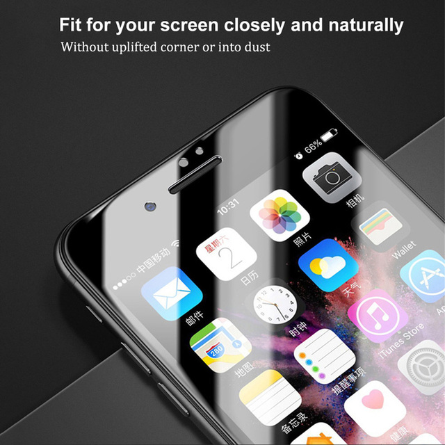 Baseus Screen Protector For iPhone X 8 7 6 S 6S Plus Tempered Glass 0.23mm Soft PET 3D Curved Protective Glass Front Film